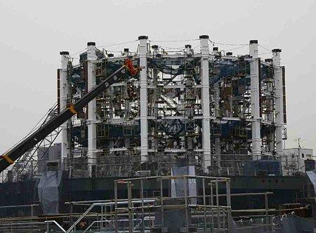 東京スカイツリー 2012年春 開業予定で低層階組み立て中-210215-1