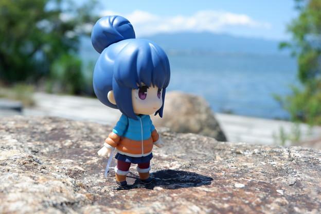 琵琶湖にて