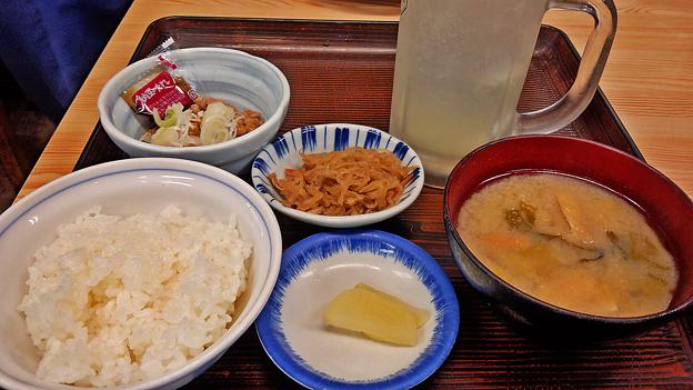 やまだや ( 成増 = やまだ食堂 ) 納豆・ご飯・味噌汁       2018/10/31