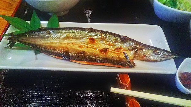 だいこん ( 成増 ) サンマ開き( 焼き魚定食 ) 2019/01/15