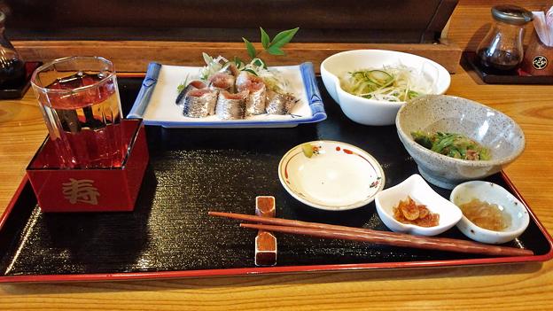 だいこん ( 練馬区旭町 or 成増 ) いわしの酢じめ定食 + お酒   2019/07/06