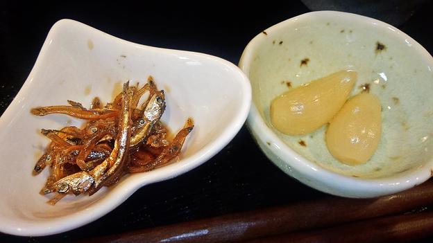 だいこん ( 練馬区旭町 or 成増 ) 小鉢二種 ( 焼魚定食 )   2019/07/20