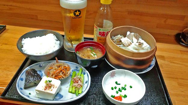 花水木 ( 成増 ) 真鯛と野菜のせいろ蒸し定食  2019/10/11
