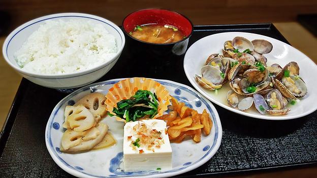 花水木 ( 成増 ) あさり酒蒸し定食  2019/11/07
