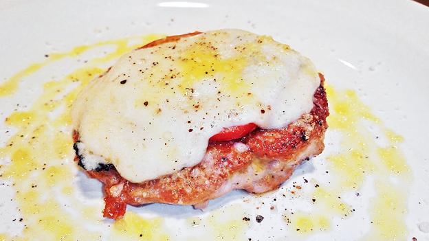 ウニタ unita うに太 ( 成増 = イタリアン ) 豚ヒレ肉とフレッシュトマト、モッツァレラチーズの重ね焼き( ランチ )     2020/01/04