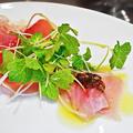 ウニタ unita うに太 ( 成増 = イタリアン ) 前菜 ( ランチ・メカジキのカルパッチョ )  2020/01/04