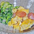 Photos: だいこん ( 成増 or 練馬区旭町 ) 菜花の和え物 & 炒り玉子 ( 定食 )  2020/01/18