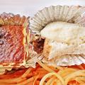 Photos: うに太 unita ウニタ ( 成増 = イタリアン ) 小柱とワラビのトマトソース・スパゲッティb ( テイクアウト ) 2020/05/23