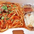 Photos: うに太 unita ウニタ ( 成増 = イタリアン ) 小柱とワラビのトマトソース・スパゲッティ ( テイクアウト ) 2020/05/23