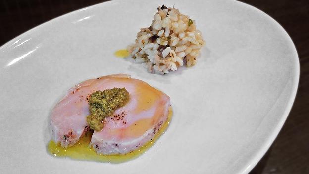 Photos: ウニタ unita うに太 ( 成増 = イタリアン ) 鶏むね肉のボイル、タラの芽ソース添え ( ランチ前菜 ) 2020/06/13