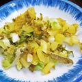 やまだや ( 成増 = やまだ食堂 ) 菜っ葉の塩漬け ( 定食 )  2020/07/31
