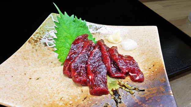 花水木 ( 成増 ) ニタリクジラ刺身  2020/08/08