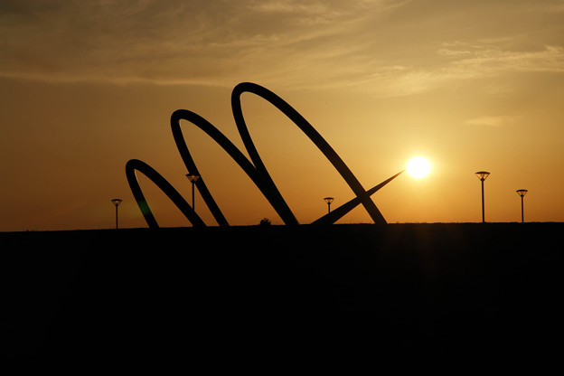 夕日を灯す