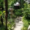 写真: 古民家のお庭