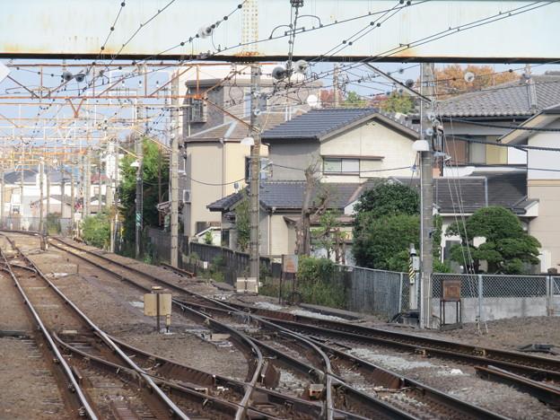 豊田駅上りホームより新宿方