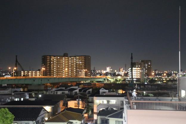 東京都葛飾区の夜景 - 青砥駅下りホームより