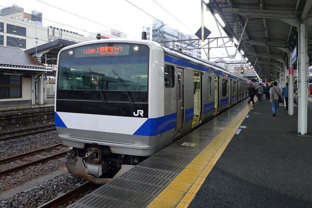 常磐線E531系@水戸駅