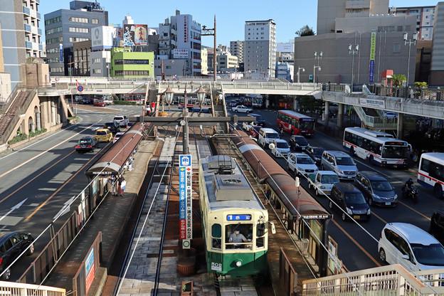 長崎市電500形@長崎駅前