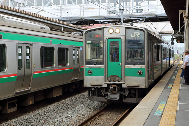 701系一ノ関行き@小牛田駅