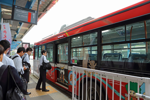 BRT前谷地行き@気仙沼駅