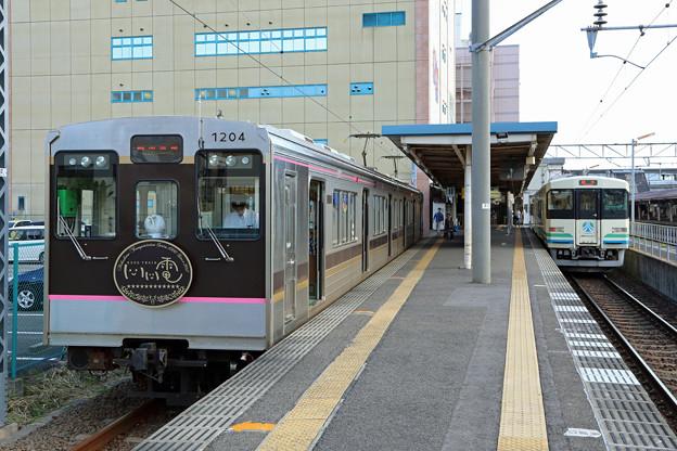 飯坂電車1000系@福島駅