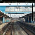 坂町駅に到着