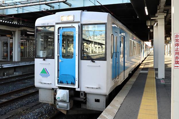 左沢線キハ101@山形駅
