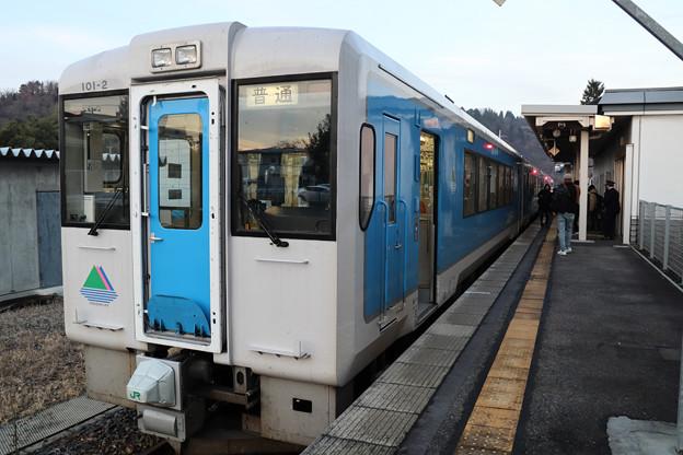 キハ101@左沢駅