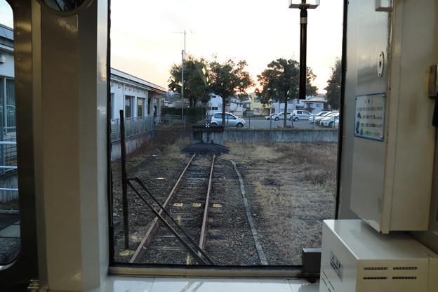 どん詰まりの左沢駅