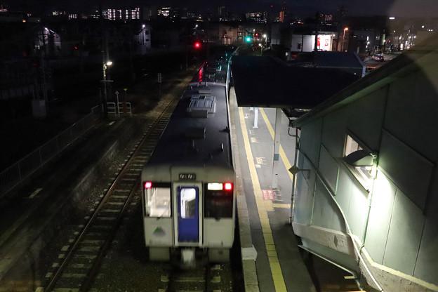 北山形駅でキハ101を見送る