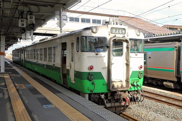 キハ40@会津若松駅
