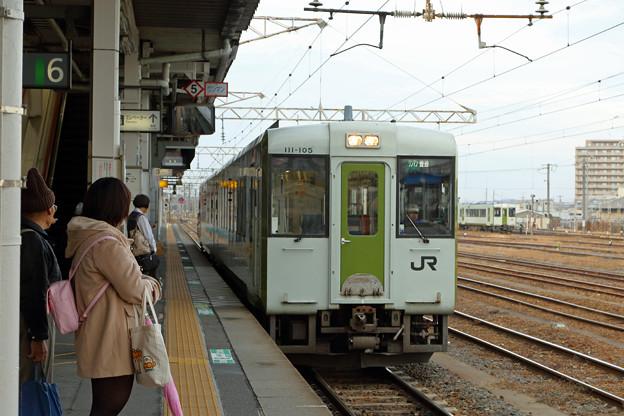 磐越東線キハ111@郡山駅