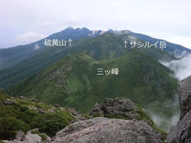 羅臼岳より知床半島方向です