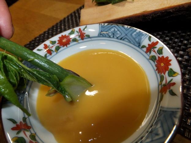 タラの芽と酢味噌