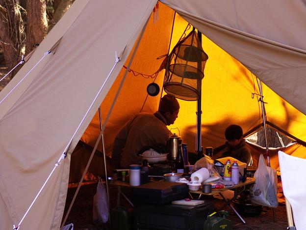 親子で冬キャンプ