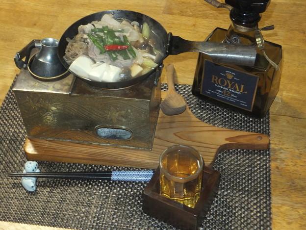 肉豆腐とホットウイスキー