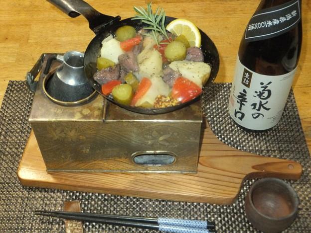 ジャガイモと牛タン