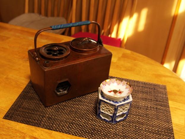 燗銅壺と盃台