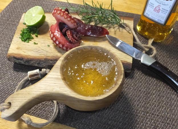 タコのバター醤油焼き02