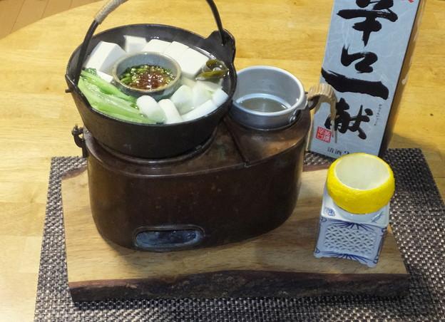 湯豆腐と燗どうこ