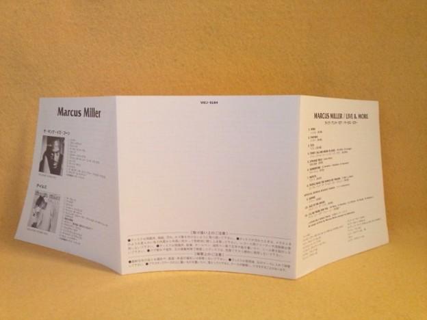 マーカス ミラー ライヴ アンド モア CD ライブ盤