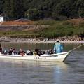 写真: 昔写真天竜川川下り舟