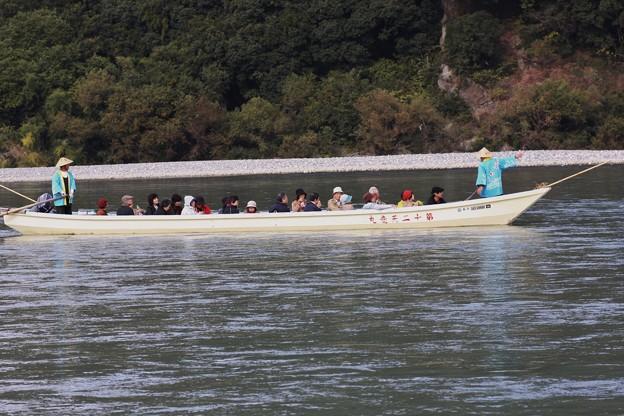 昔写真天竜川川下り舟