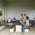 写真: 富幕山今朝の山頂休憩舎