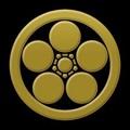 写真: 家紋梅鉢の紋「丸に梅鉢紋」