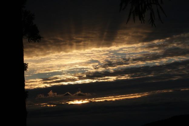 今朝の日の出は雲に隠れて~