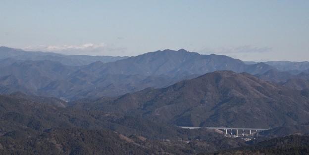 パノラマから三ツ瀬明神山