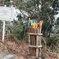 Photos: K)さんがボランテアで作っている杖使用したらマナー守って返してね。