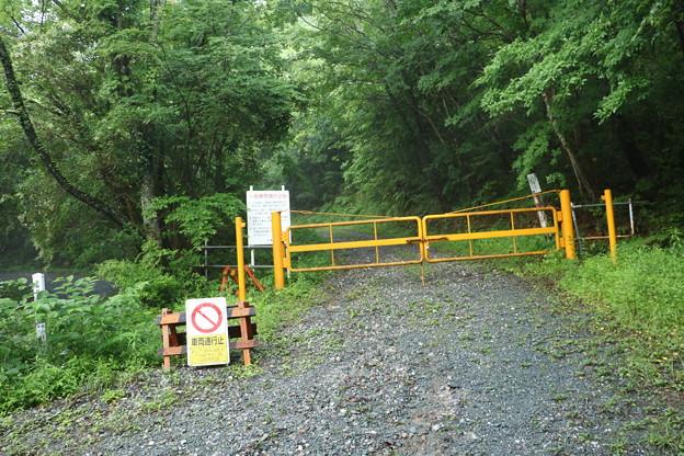富幕山陣座口林道ゲート