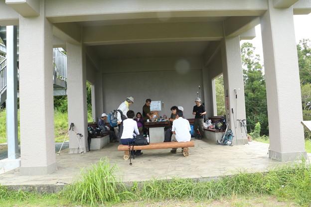 今朝の富幕山休憩舎